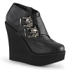 CREEPER-306 Black Vegan Leather